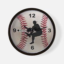 Baseball ipitch Wall Clock