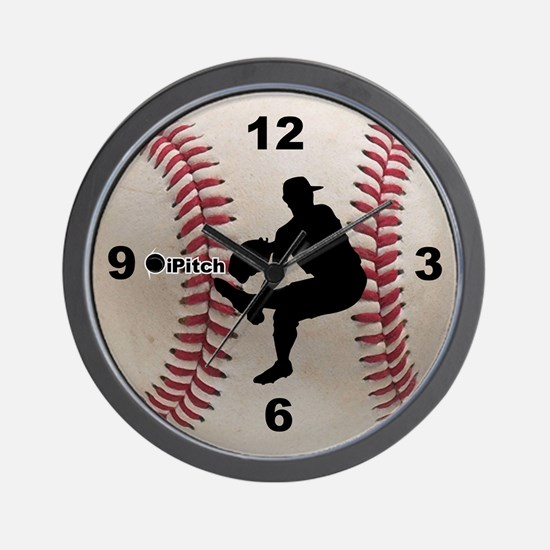 Baseball ipitch Wall Clock