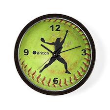 Fastpitch Softball ipitch Wall Clock