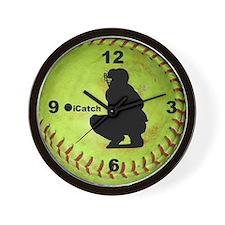 Fastpitch Softball icatch Wall Clock