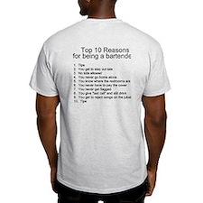 Bartender Top 10 T-shirt (light)