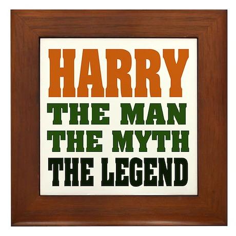 HARRY - The Legend Framed Tile