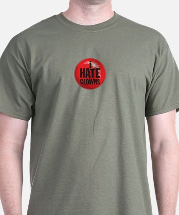 CRAZYFISH i hate clowns T-Shirt