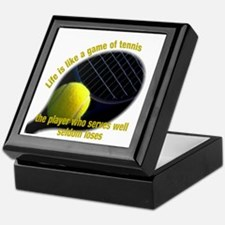 Life is like a game of tennis Keepsake Box