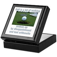 Golf is a lot of walking Keepsake Box