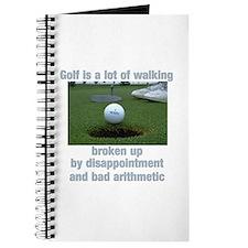 Golf is a lot of walking Journal