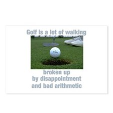 Golf is a lot of walking Postcards (Package of 8)