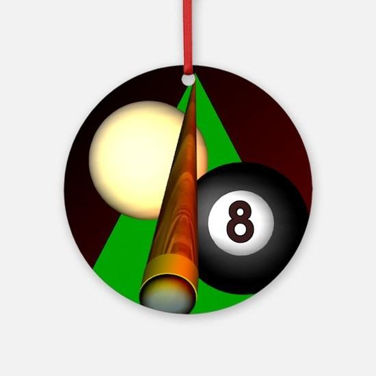 Eight Ball Ornament (Round)
