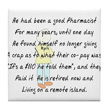 Pharmacist Story Art Tile Coaster