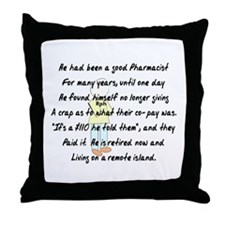 Pharmacist Story Art Throw Pillow