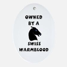 Swiss Warmblood Oval Ornament