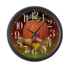 Autumn Fruits Large Wall Clock