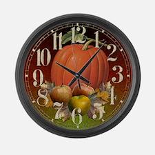 Autumn Fruits Large Wall Clock