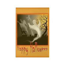 Cute Halloween cat Rectangle Magnet (100 pack)