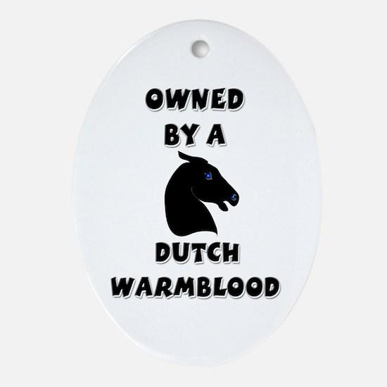 Dutch Warmblood Oval Ornament