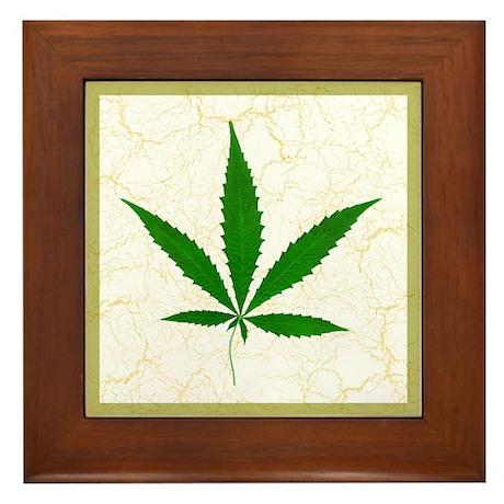 Cannabis Framed Tile