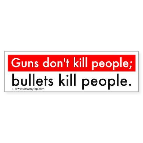 Guns and Bullets Sticker (Bumper)