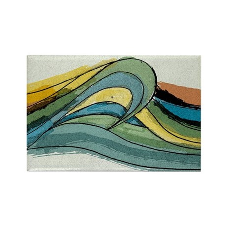 Waves by Joe Monica Rectangle Magnet