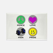 PEACE LOVE PAIN PRIDE Rectangle Magnet