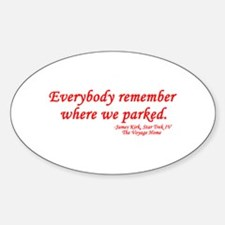 Star Trek Kirk Quote Parked Decal