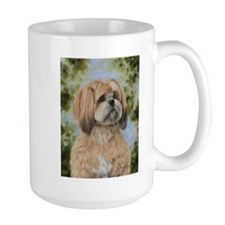 Lhasa Apso by Dawn Secord Mug
