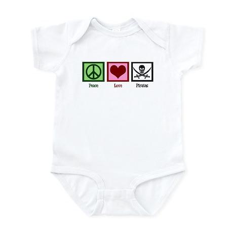 Peace Love Pirates Infant Bodysuit