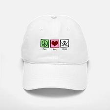 Peace Love Pirates Baseball Baseball Cap