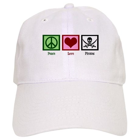 Peace Love Pirates Cap