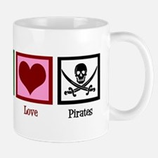 Peace Love Pirates Mug