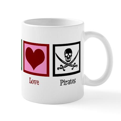 Peace Love Pirates Mug