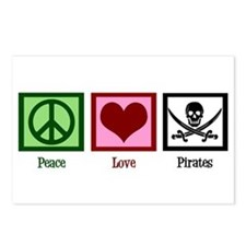 Peace Love Pirates Postcards (Package of 8)