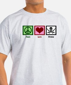 Peace Love Pirates T-Shirt