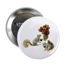 "Squirrels Wine Tasting 2.25"" Button"