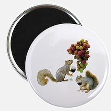 Squirrels Wine Tasting Magnet