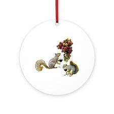 Squirrels Wine Tasting Ornament (Round)
