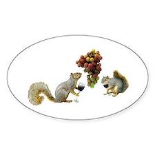 Squirrels Wine Tasting Decal