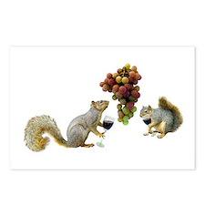 Squirrels Wine Tasting Postcards (Package of 8)
