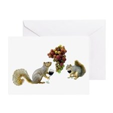 Squirrels Wine Tasting Greeting Card