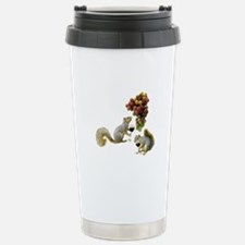 Squirrel with Wine Stainless Steel Travel Mug