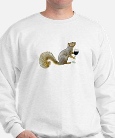 Squirrel with Wine Sweatshirt
