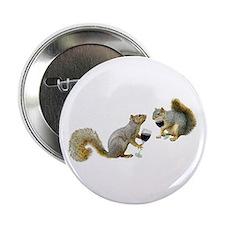 """Squirrels Drinking Wine 2.25"""" Button"""