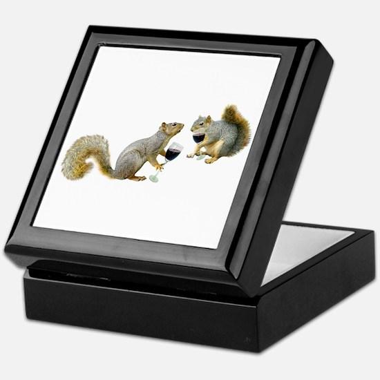 Squirrels Drinking Wine Keepsake Box