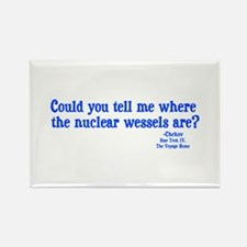 Star Trek Chekov Nuclear Wessels Rectangle Magnet