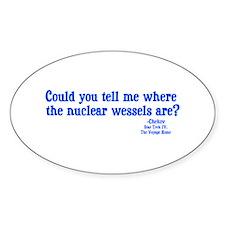 Star Trek Chekov Nuclear Wessels Decal