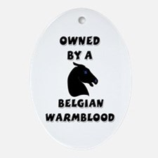 Belgian Warmblood Oval Ornament