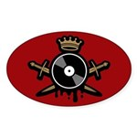 Record Royalty Sticker (Oval)