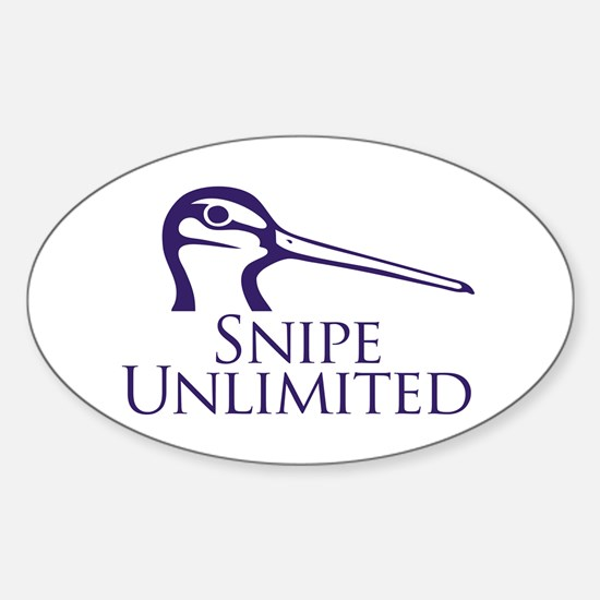 Snipe Unlimited Oval Decal