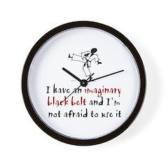 Imaginary Black Belt Wall Clock