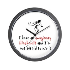 Imaginary Black Belt Wall Clock