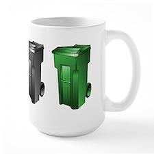 garbage_cans_black_blue_green Mugs